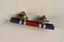 Red, white and blue ribbon bar for distinguished service awarded to a Jewish medical officer, 2nd Polish Corps