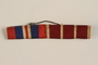 Ribbon bar with British War Medal 1939-1945 and Polish Army Medal for War 1939-1945 awarded to a Jewish medical officer, 2nd Polish Corps