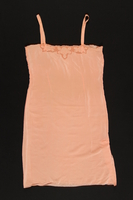 2003.198.4 front Peach chemise with floral embroidery saved by a Hungarian Jewish refugee  Click to enlarge
