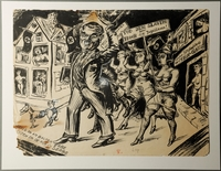 1988.5.5 front Satirical drawing by Karl Schwesig depicting the subjugation of Yugoslavia to Nazi Germany  Click to enlarge