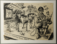 1988.5.7 front Satirical drawing by Karl Schwesig depicting Nazi soldiers as pigs  Click to enlarge