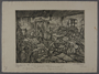 Leo Haas aquatint of a room overcrowded with ill inmates