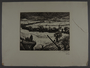 Leo Haas aquatint of a long line of people marching through the snow