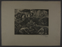Leo Haas aquatint of frail people searching in the dirt