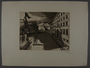 Leo Haas aquatint etching of a soldier watching marching people