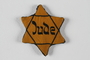Star of David badge with Jude given to a US liberator by an inmate