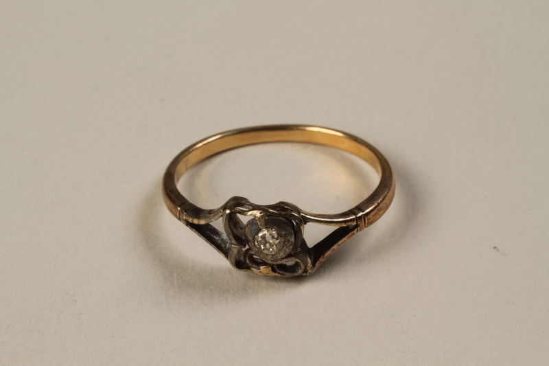 1988.145.1 front Ring found at a concentration camp