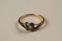 1988.145.1 front Ring found at a concentration camp  Click to enlarge