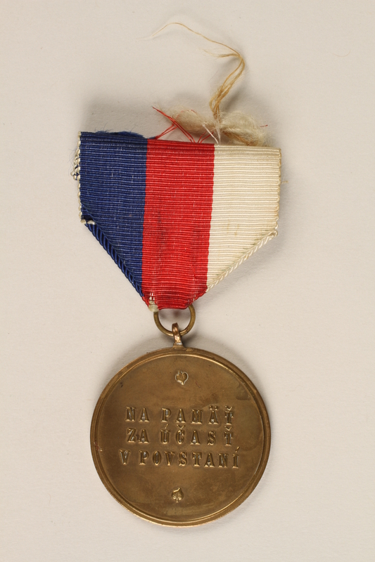1989.7.11 back Commemorative Medal of The Order of the Slovak National Uprising