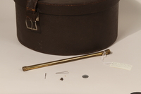 2003.242.4 other Imitation leather hatbox used postwar by a young German Jewish refugee  Click to enlarge