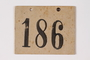 Numbered ID sign issued to a Jewish Austrian boy for the Kindertransport