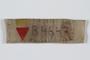 Prisoner ID badge B 4647 worn by Polish Jewish slave laborer