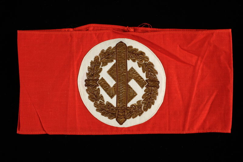 1989.312.40 front Nazi Party armband