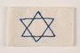 White armband with a blue embroidered Star of David worn by a Polish Jewish youth