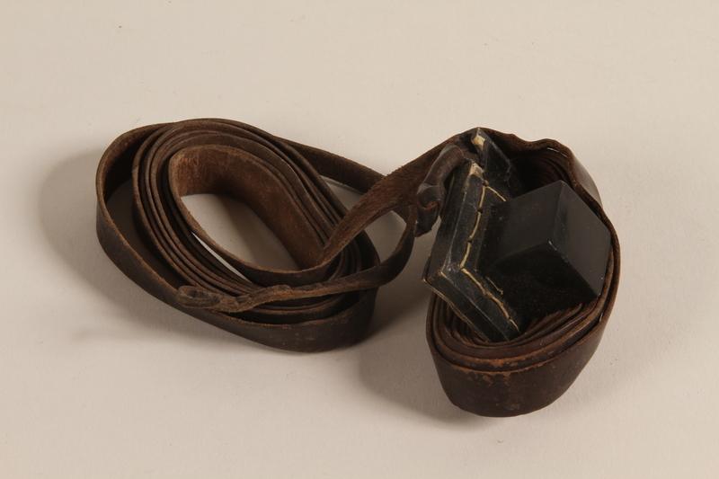 2003.418.2 a front Tefillin pair kept through the war by a Jewish Polish man