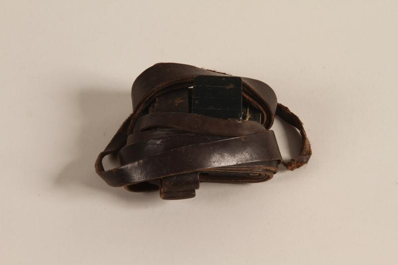 2003.418.2 b front Tefillin pair kept through the war by a Jewish Polish man