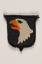US Army 101st Airborne Division shoulder sleeve patch with a bald eagle head