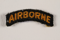 2000.561.1a front US Army 101st Airborne Division shoulder sleeve patch with a bald eagle head  Click to enlarge