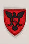 US Army 86th Infantry Division shoulder sleeve patch with a black hawk with spread wings on a red field
