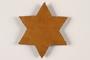 Yellow Star of David badge with tweed backing worn in Slovakia