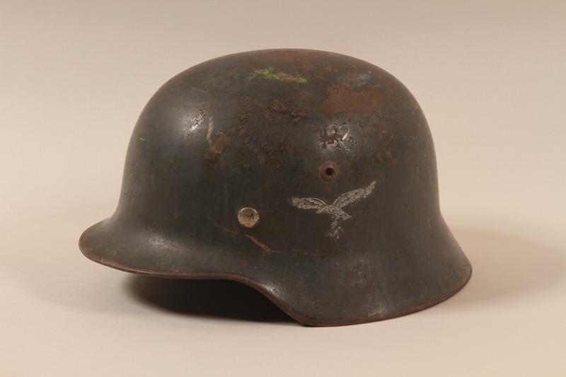 1988.70.2 left side German Luftwaffe M1935 helmet