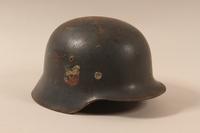 1988.70.2 right side German Luftwaffe M1935 helmet  Click to enlarge