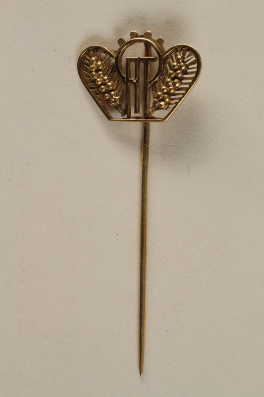 1988.72.6 front ORT stickpin presented to Director, ORT vocational schools, DP camps