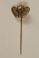 1988.72.6 front ORT stickpin presented to Director, ORT vocational schools, DP camps  Click to enlarge