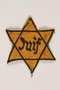 Star of David badge with Juif worn by a German Jewish refugee