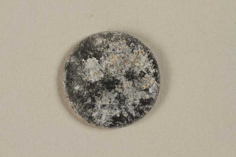 1999.300.2 back Łódź (Litzmannstadt) ghetto scrip, 5 mark coin
