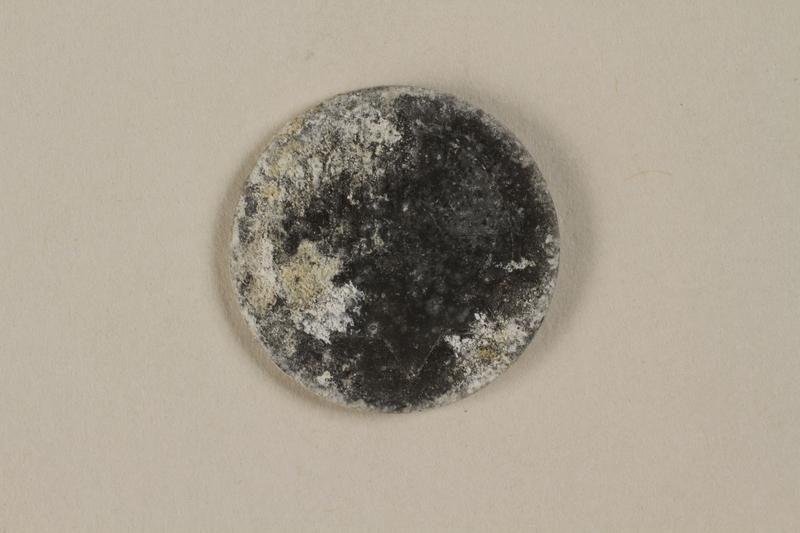 1999.300.2 front Łódź (Litzmannstadt) ghetto scrip, 5 mark coin