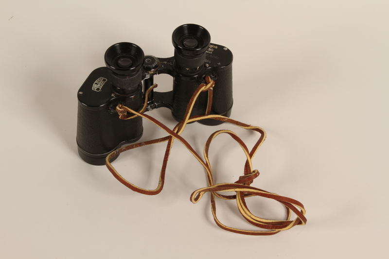 1988.112.62 front Zeiss Z body binoculars found in a concentration camp by US military aid worker