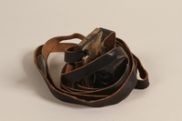 2000.580.1 a front Pair of tefillin taken from a concentration camp by an inmate at liberation  Click to enlarge