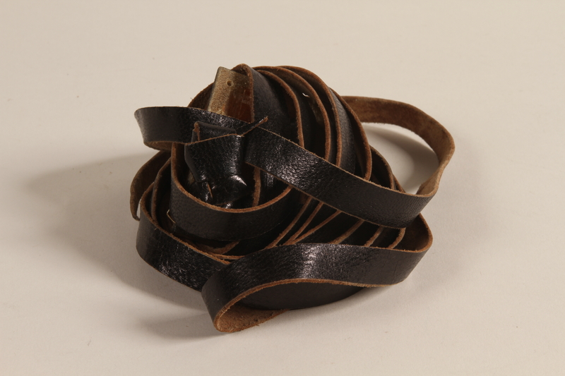 2000.580.1 b front Pair of tefillin taken from a concentration camp by an inmate at liberation