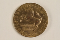 2004.217.2 back 5 million mark gold coin issued as emergency currency in Weimar Germany  Click to enlarge