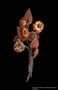 Bouquet of leather flowers made by an inmate at Bergen Belsen