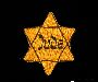 Yellow cloth Star of David badge with Jude printed in center