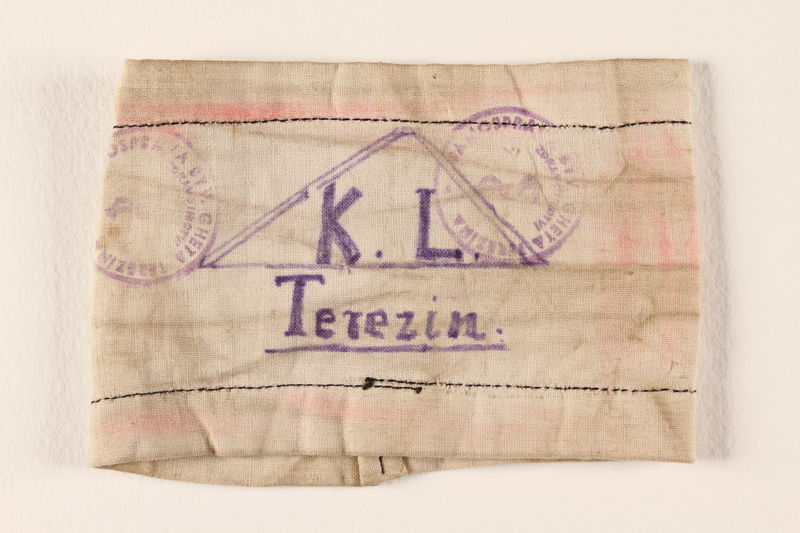 2000.587.3 front Armband from Terezin ghetto-labor camp