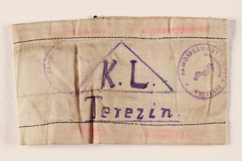 2000.587.4 front Armband from Terezin ghetto-labor camp
