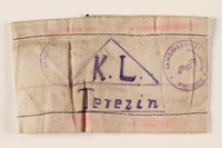 2000.587.4 front Armband from Terezin ghetto-labor camp  Click to enlarge