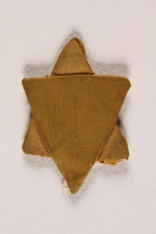 1999.311.1 front Star of David badge worn in Romania