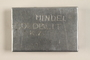 Handmade aluminum box incised with the name of a concentration camp inmate found by another inmate