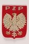 Polish Union of Swimming red felt badge with an eagle awarded postwar to a Polish Army swim coach