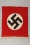 Nazi banner with swastika and white fringe