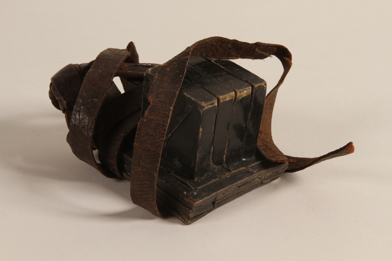 2004.410.1 a front Set of tefillin acquired by a Soviet Jewish soldier