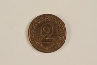 2000.607.1 back 2 Pfennig coin  Click to enlarge