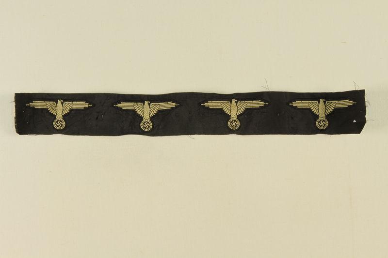 2002.528.1 front Nazi eagle and swastika insignia ribbon