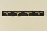 2002.528.1 front Nazi eagle and swastika insignia ribbon  Click to enlarge