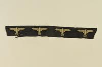 2002.528.2 front Nazi eagle and swastika insignia ribbon  Click to enlarge