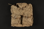 Khaki canvas knapsack brought to the US by a German Jewish refugee